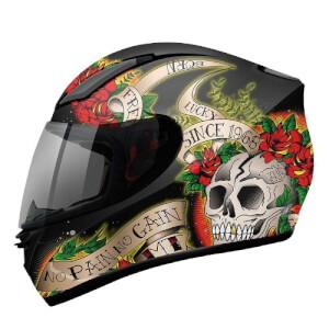 ΜΤ Skull & Rose black-red