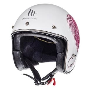 Κράνος MT Le Mans SV Love άσπρο-φούξια