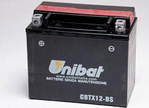 ΜΠΑΤΑΡΙΕΣ UNIBAT CBTX12-BS (YTX12-BS) ΜΕ ΥΓΡΑ