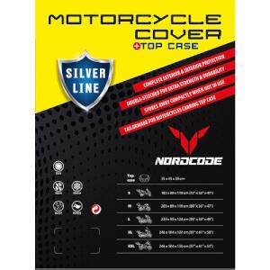 ΚΑΛΥΜΜΑ ΜΟΤΟ NORDCODE COVER MOTO L SILVER LINE+TOP CASE